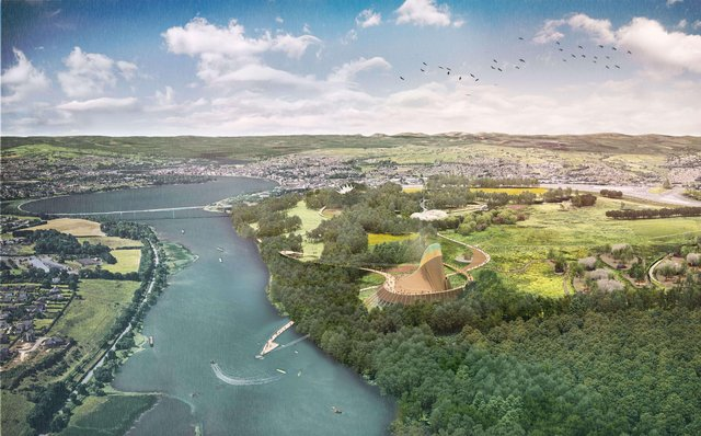 An artist's impression of how the site will look once completed.