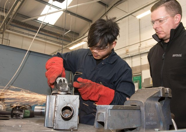 2019: Ricardo Butler and Shane Colgan, Fabrication & Welding, at the North West Regional College Inter Campus Skillbuild competition.