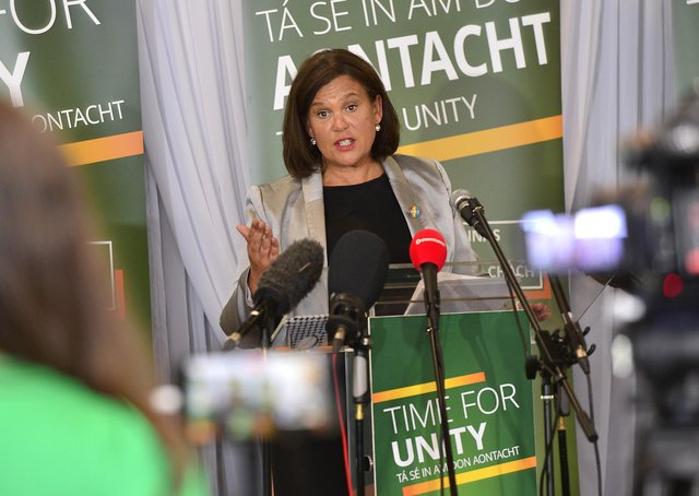 Mary Lou McDonald. Picture By: Arthur Allison/Pacemaker.