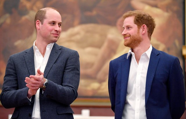 Prince William, Duke of Cambridge and Prince Harry attend the opening of the Greenhouse Sports Centre