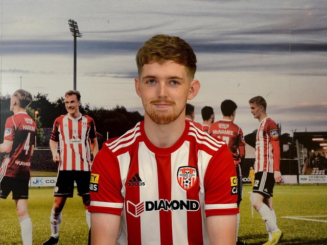 Jamie McGonigle can't wait to get going at Derry City after completing his transfer from Crusaders this week. Photograph by George Sweeney.