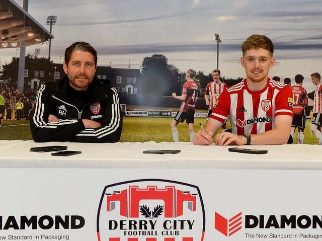Ruaidhri Higgins was delighted to capture the signature of in demand striker Jamie McGonigle this week.