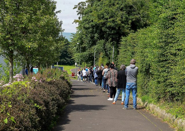 There was a walk-in Covid-19 vaccination clinic for adults over 18 to receive first dose of the Pfizer vaccine at the Foyle Arena on Tuesday (File picture). DER2126GS - 152