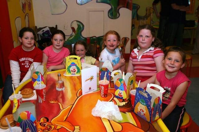 Birthday girl Caitlin McElhinney and the gang.