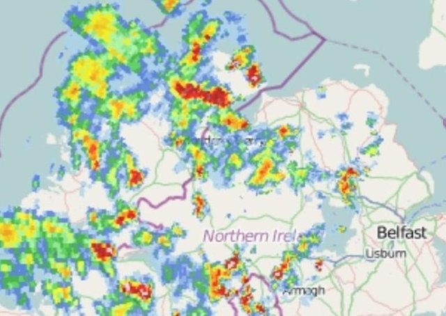 More rain forecast for today with yellow warning in place. (Picture: Yesterday's storms via Weather and Flood Advisory)