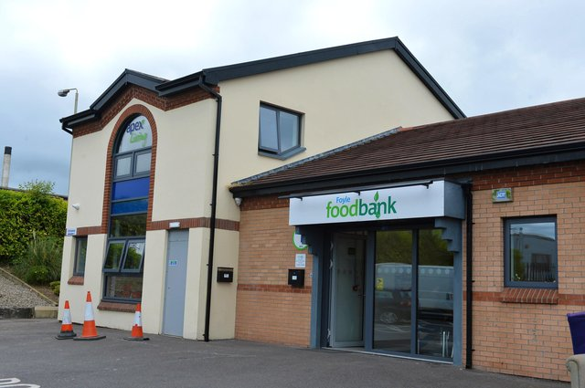 The exterior of the Foyle Foodbank in Springtown Industrial Estate, Derry.  DER2619GS-056