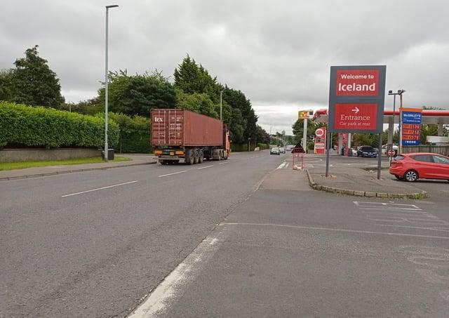 The Buncrana Road in Derry.