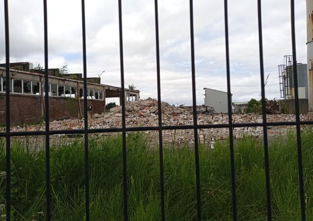 Preparatory clearance work across the Artnz Belting company site is ongoing.