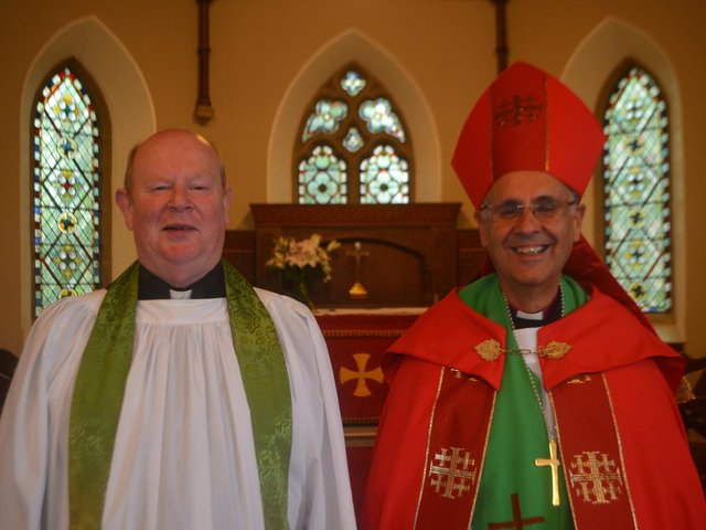 Rev Canon David Crooks (Rector of Taughboyne Group of Parishes) and his brother-in-law, Rt Rev Hall Spiers, Bishop of Mahajanga.