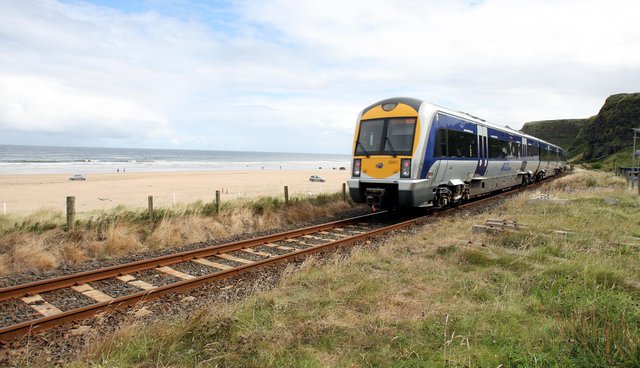 The track will be relayed  between Castlerock and Eglinton - one of the most picturesque sections of rail in Ireland.