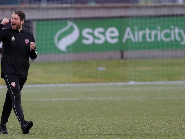 Derry City boss Ruaidhri Higgins responds to Vinny Perth's comments on Patrick McEleney's pre-contract announcement.