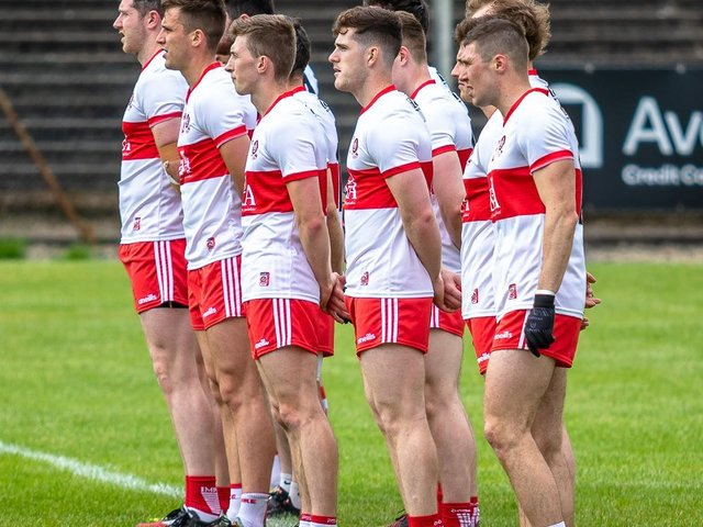 Derry lost out to Donegal's injury time winner in a thrilling game in Balybofey. (Photo: Stefan Hoare)