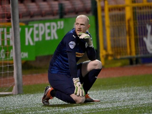 Cliftonville goalkeeper Aaron McCarey.