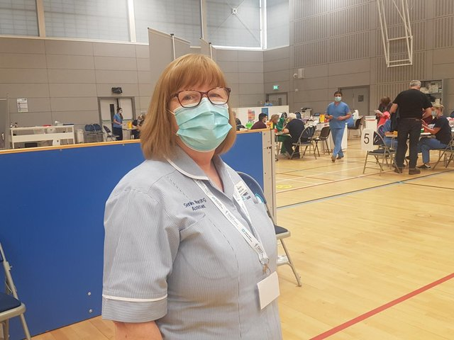 Marion McAuley, Senior Nursing Assistant at the Foyle Arena.