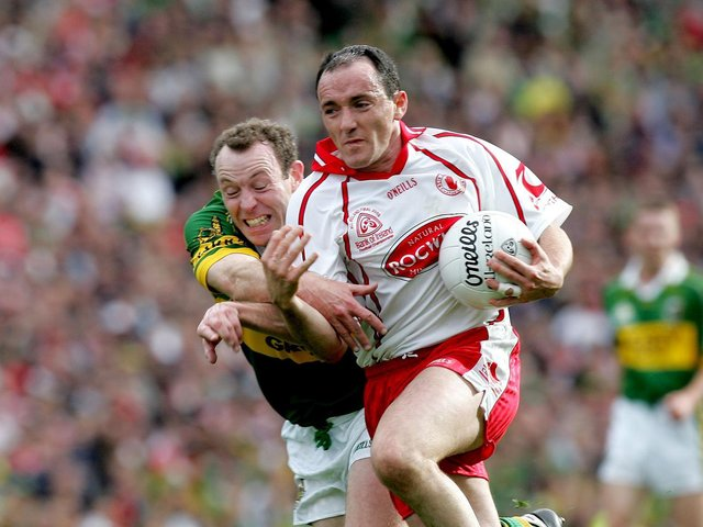 Brian Dooher in action in the 2005 All Ireland Senior Football Final. Photo: Morgan Treacy