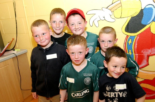 Birthday boy Daryl Ryan pictured with some of the boys at his party.