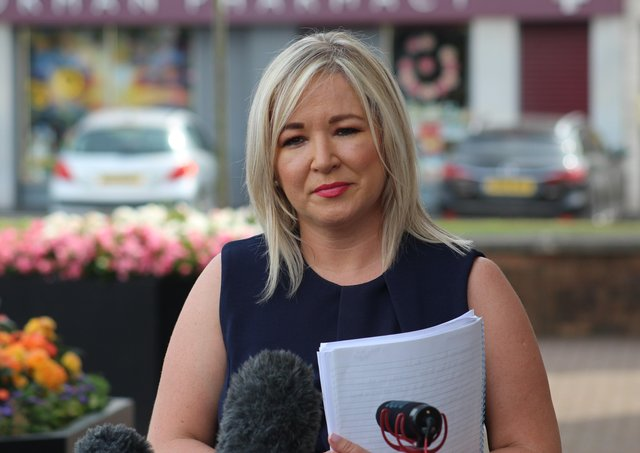 Deputy First Minister Michelle O'Neill in Coalisland, Co Tyrone on Thursday.