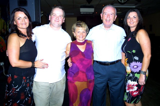 Peter McGowan enjoying his night out with family.