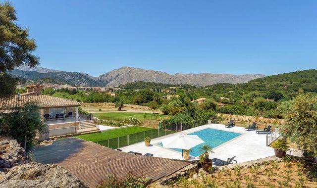 Mountain views from Villa Es Costes.