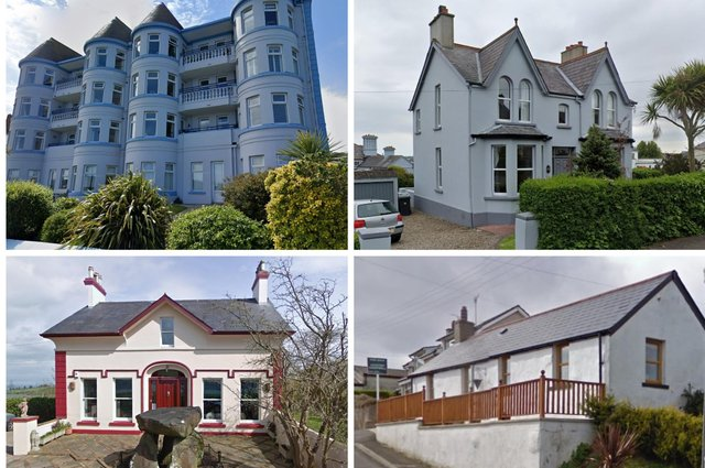 These properties all have scenic views of Northern Ireland's coastline.  Google maps